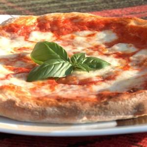 Crickerita pizza with crickets flour